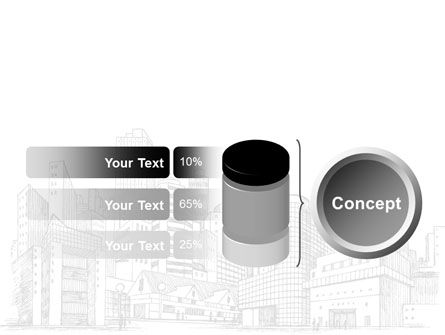City Architecture Sketch PowerPoint Template Slide 11