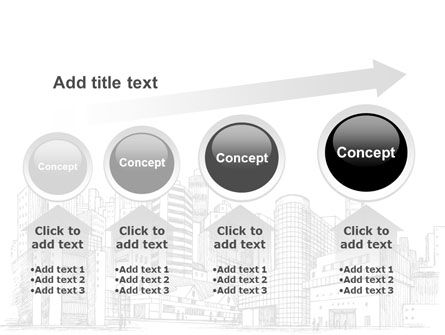City Architecture Sketch PowerPoint Template Slide 13