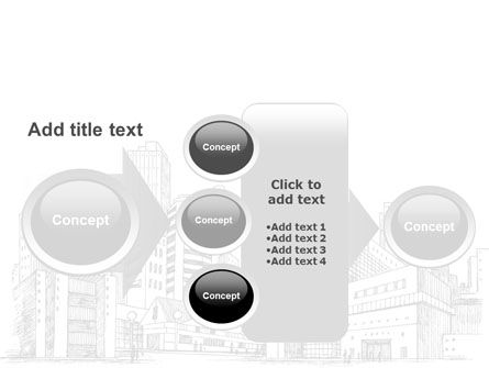 City Architecture Sketch PowerPoint Template Slide 17