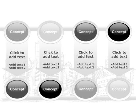 City Architecture Sketch PowerPoint Template Slide 18