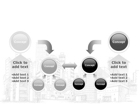City Architecture Sketch PowerPoint Template Slide 19
