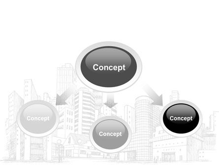City Architecture Sketch PowerPoint Template Slide 4