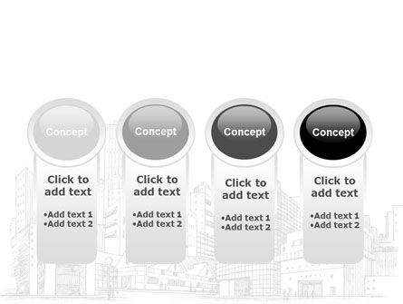 City Architecture Sketch PowerPoint Template Slide 5