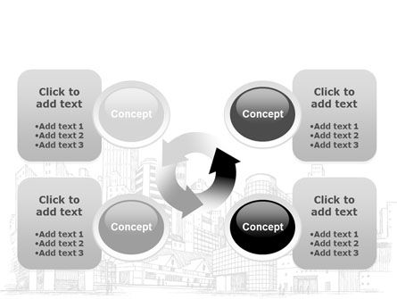 City Architecture Sketch PowerPoint Template Slide 9