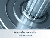 Utilities/Industrial: Gear Shaft PowerPoint Template #08229