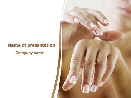 Careers/Industry: Hand Cream PowerPoint Template #08230