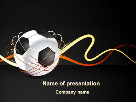 Football Championships PowerPoint Template, 08231, Sports — PoweredTemplate.com