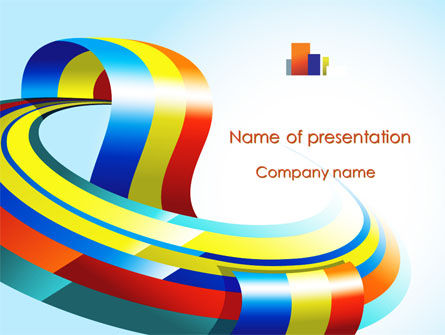 Rainbow Ribbon PowerPoint Template