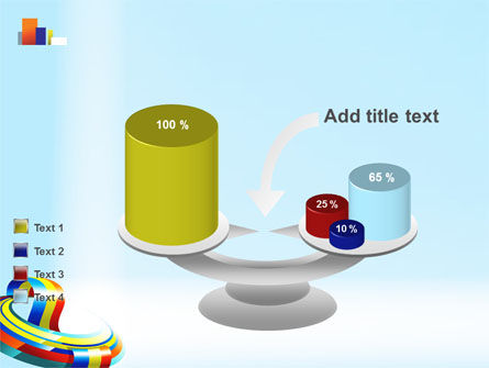 Rainbow Ribbon PowerPoint Template Slide 10
