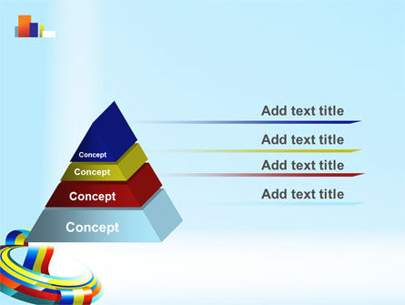 Rainbow Ribbon PowerPoint Template Slide 12