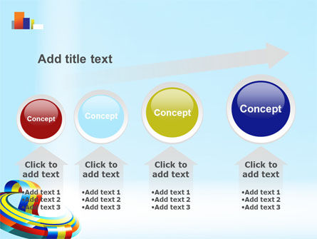 Rainbow Ribbon PowerPoint Template Slide 13