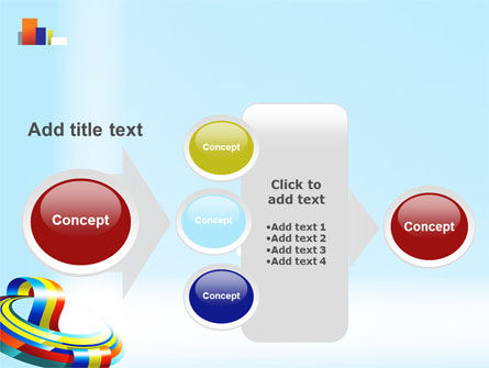 Rainbow Ribbon PowerPoint Template Slide 17