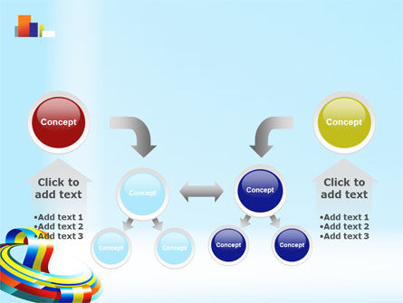 Rainbow Ribbon PowerPoint Template Slide 19