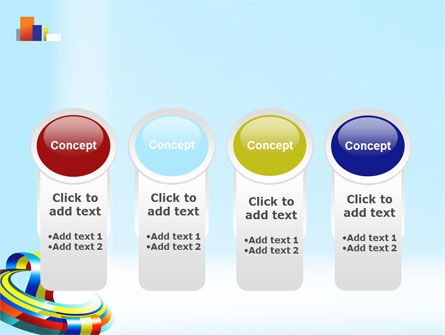 Rainbow Ribbon PowerPoint Template Slide 5