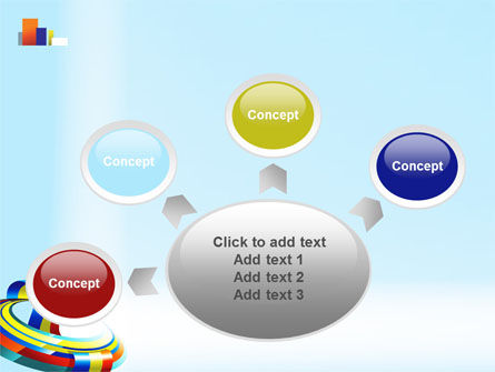 Rainbow Ribbon PowerPoint Template Slide 7