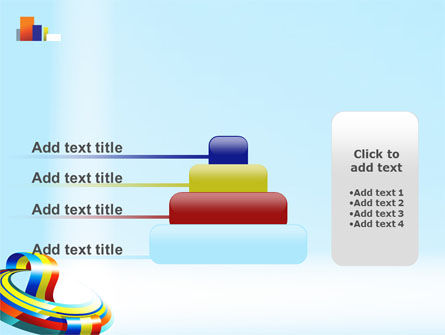 Rainbow Ribbon PowerPoint Template Slide 8