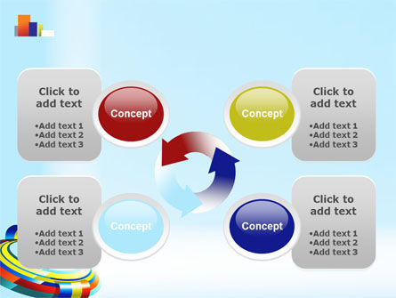 Rainbow Ribbon PowerPoint Template Slide 9