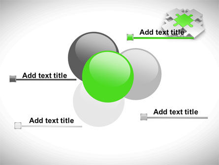 Green Center Jigsaw PowerPoint Template Slide 10