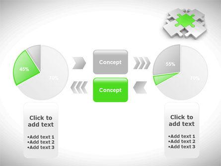 Green Center Jigsaw PowerPoint Template Slide 11