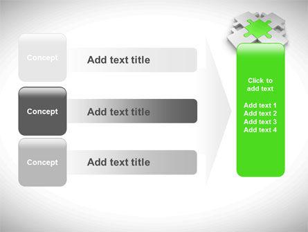 Green Center Jigsaw PowerPoint Template Slide 12