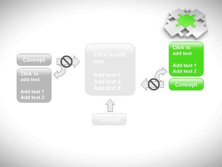 Green Center Jigsaw PowerPoint Template Slide 13