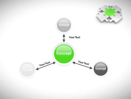 Green Center Jigsaw PowerPoint Template Slide 14