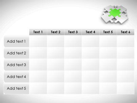 Green Center Jigsaw PowerPoint Template Slide 15