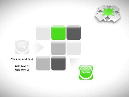 Green Center Jigsaw PowerPoint Template Slide 16