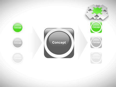 Green Center Jigsaw PowerPoint Template Slide 17