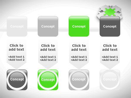 Green Center Jigsaw PowerPoint Template Slide 18