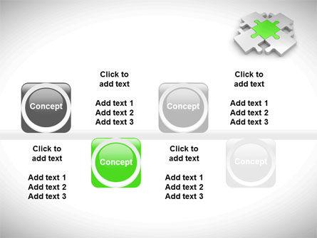 Green Center Jigsaw PowerPoint Template Slide 19