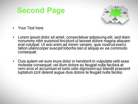 Green Center Jigsaw PowerPoint Template Slide 2