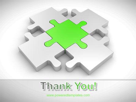 Green Center Jigsaw PowerPoint Template Slide 20