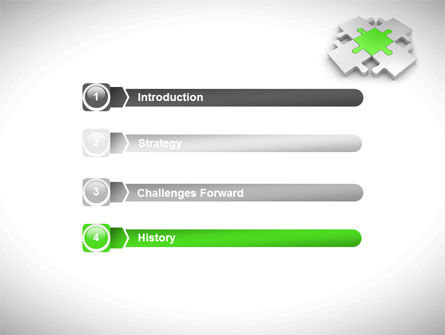 Green Center Jigsaw PowerPoint Template Slide 3