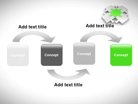 Green Center Jigsaw PowerPoint Template Slide 4