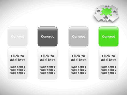 Green Center Jigsaw PowerPoint Template Slide 5