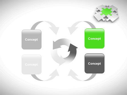 Green Center Jigsaw PowerPoint Template Slide 6