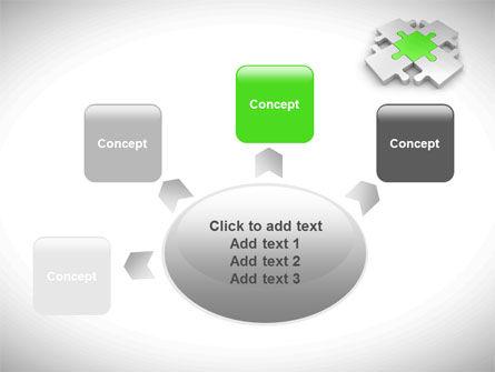 Green Center Jigsaw PowerPoint Template Slide 7