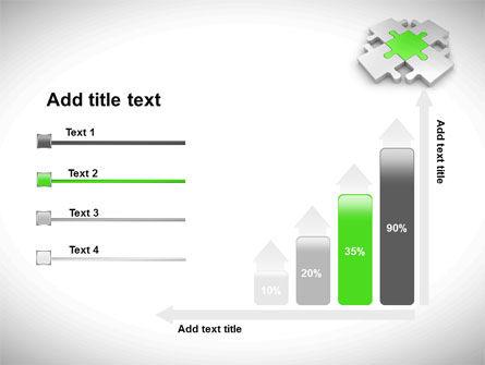 Green Center Jigsaw PowerPoint Template Slide 8