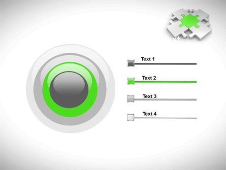 Green Center Jigsaw PowerPoint Template Slide 9