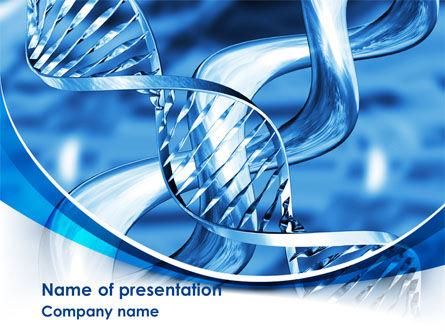 Blue Double Helix PowerPoint Template, 08234, Medical — PoweredTemplate.com