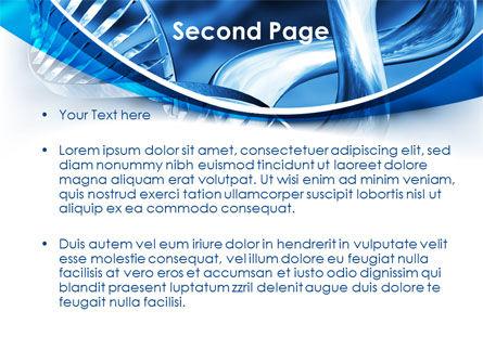 Blue Double Helix PowerPoint Template, Slide 2, 08234, Medical — PoweredTemplate.com