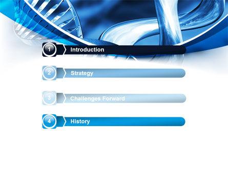 Blue Double Helix PowerPoint Template, Slide 3, 08234, Medical — PoweredTemplate.com