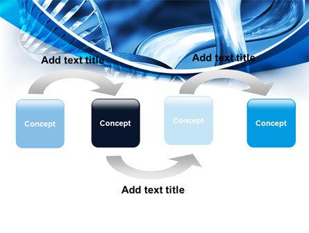 Blue Double Helix PowerPoint Template, Slide 4, 08234, Medical — PoweredTemplate.com