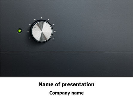 High-End Audio Free PowerPoint Template, 08236, Careers/Industry — PoweredTemplate.com