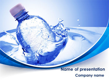 Plastic Bottle PowerPoint Template, 08237, Nature & Environment — PoweredTemplate.com