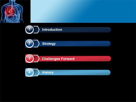 Lung Cancer PowerPoint Template, Slide 3, 08239, Medical — PoweredTemplate.com