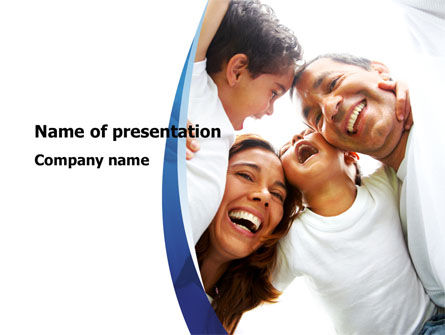 Happy Latino Family PowerPoint Template, 08240, People — PoweredTemplate.com