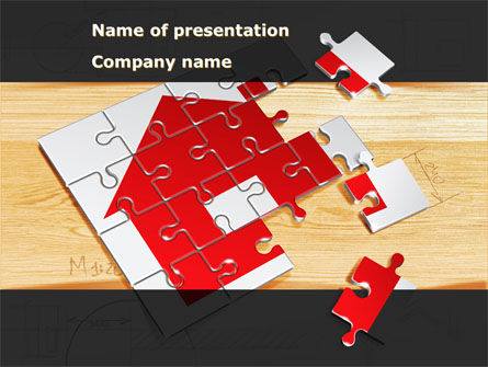 House Jigsaw PowerPoint Template, 08245, Financial/Accounting — PoweredTemplate.com