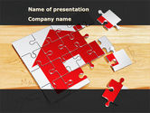 Financial/Accounting: House Jigsaw PowerPoint Template #08245